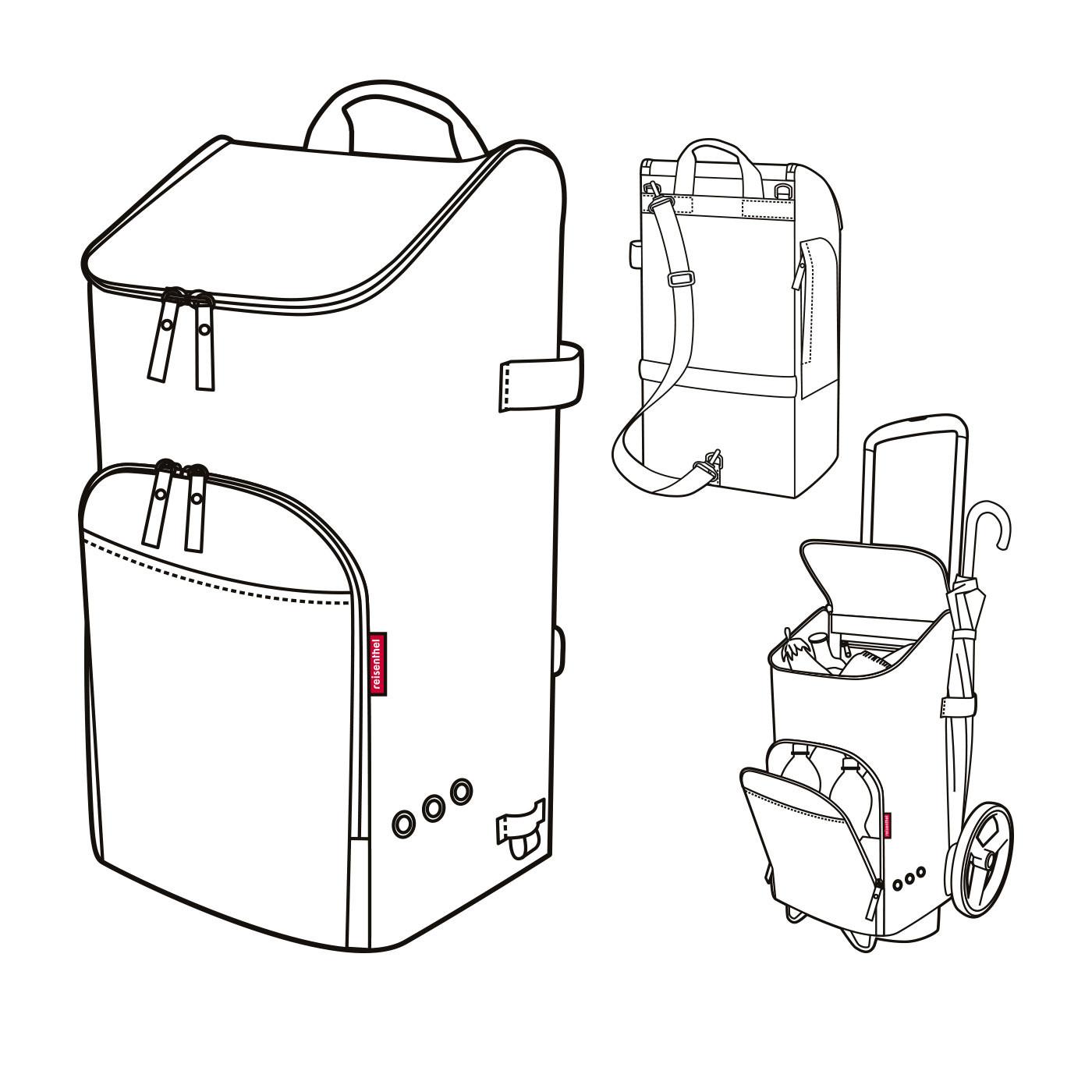 reisenthel® citycruiser rack + bag 45l dots