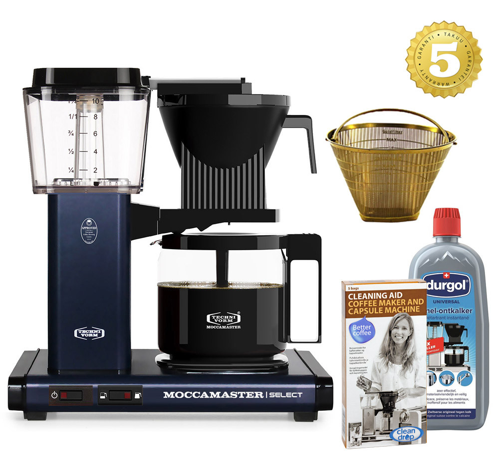 Moccamaster Kaffeemaschine KBG Select Midnight Blue Set