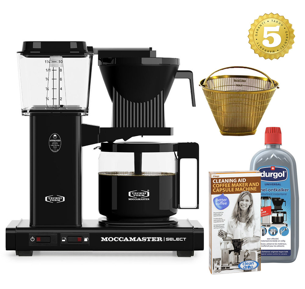 Moccamaster Kaffeemaschine KBG Select Schwarz Aktionspaket