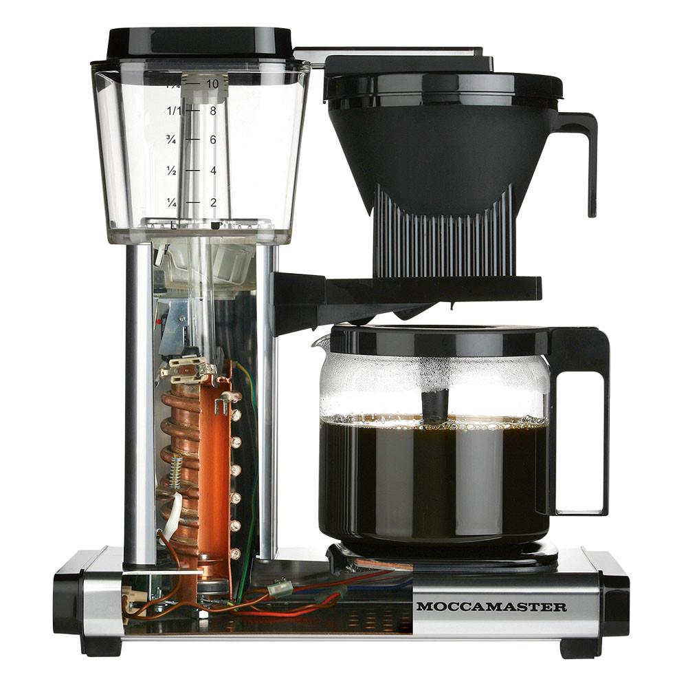 Moccamaster Kaffeemaschine KBG Select Rot Metallic - Ansicht offen