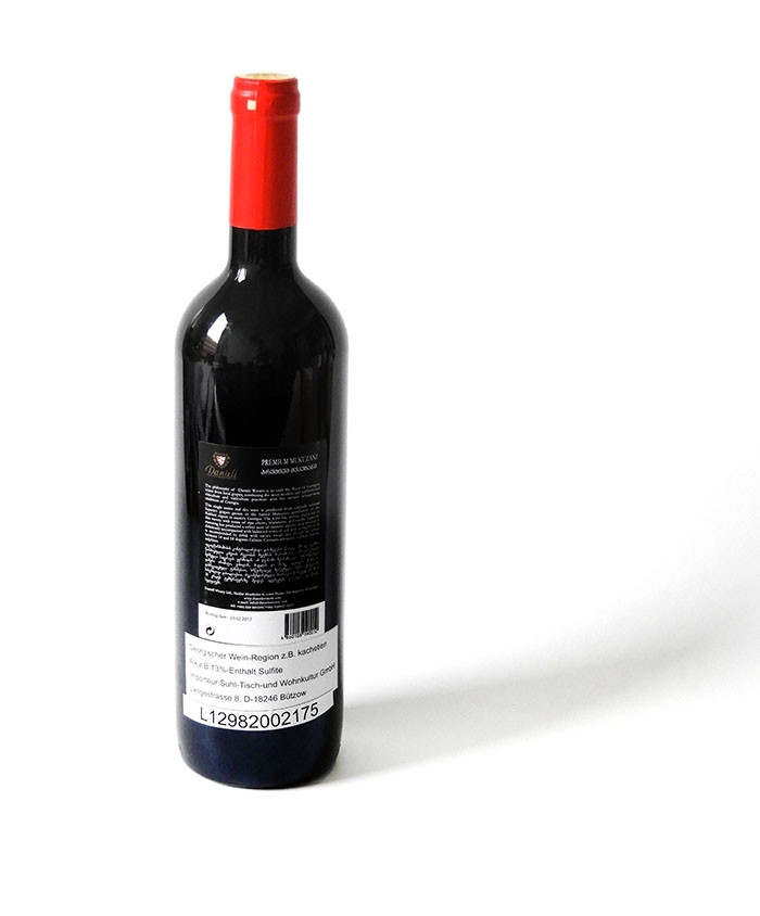 Danieli Mukuzani 2015 - Georgischer Rotwein 0,75l trocken Rückseite