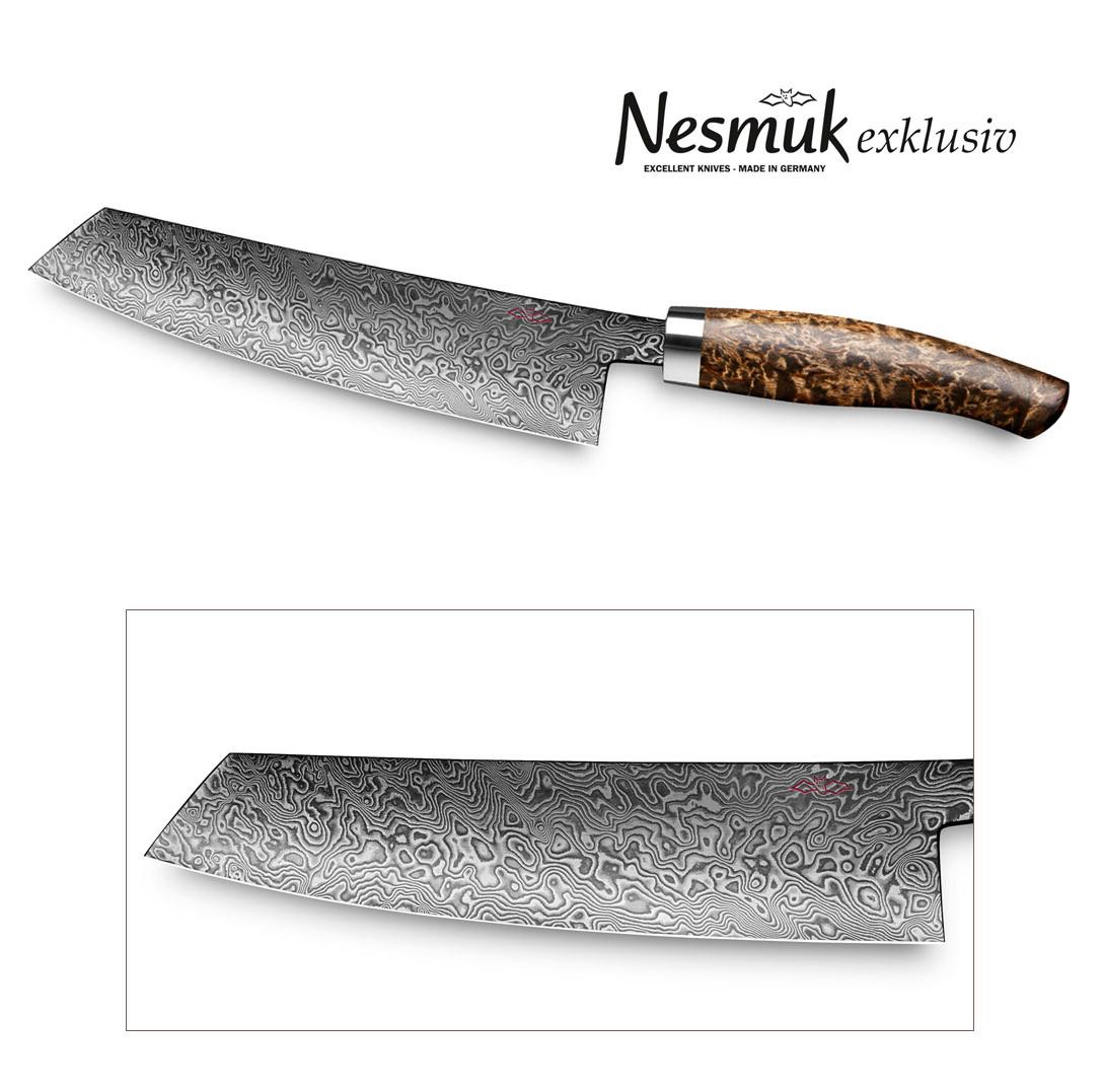 Nesmuk Exklusiv C90 Kochmesser 180-mm Klinge Karelische Maserbirke
