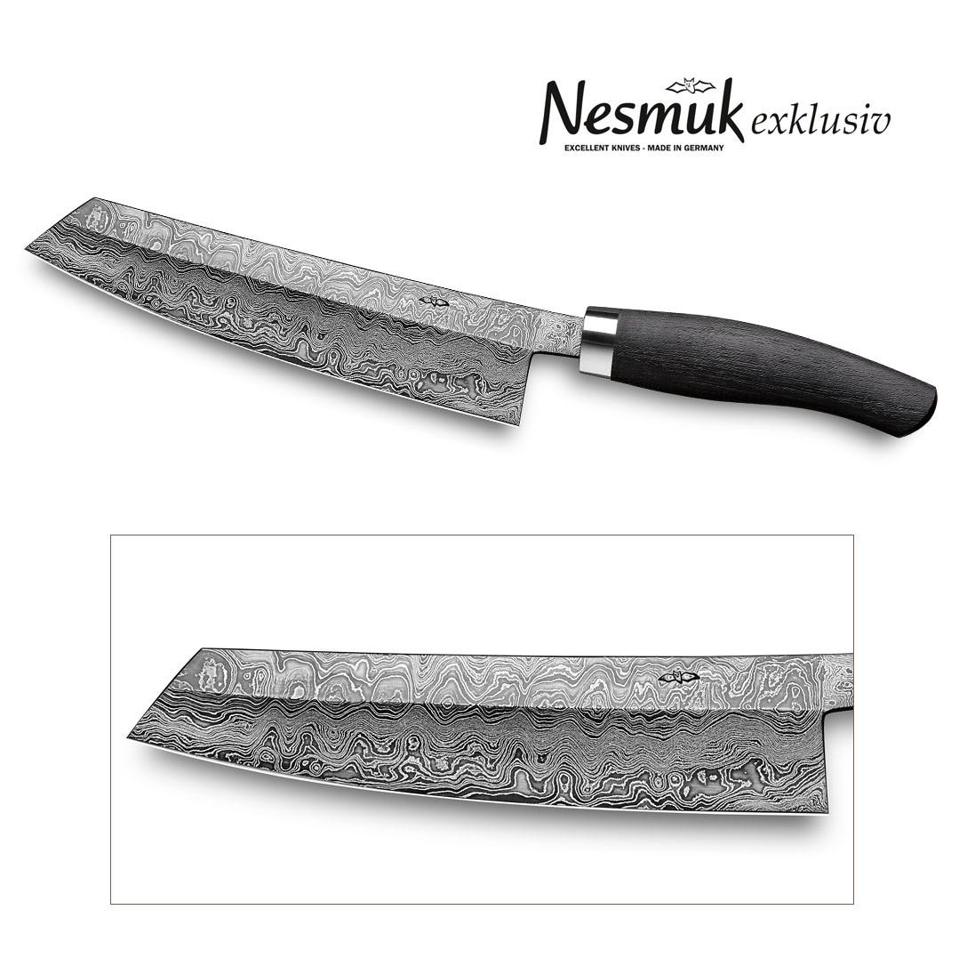 NESMUK Exklusiv C100 Kochmesser 180 Mooreiche - Ansicht Klinge