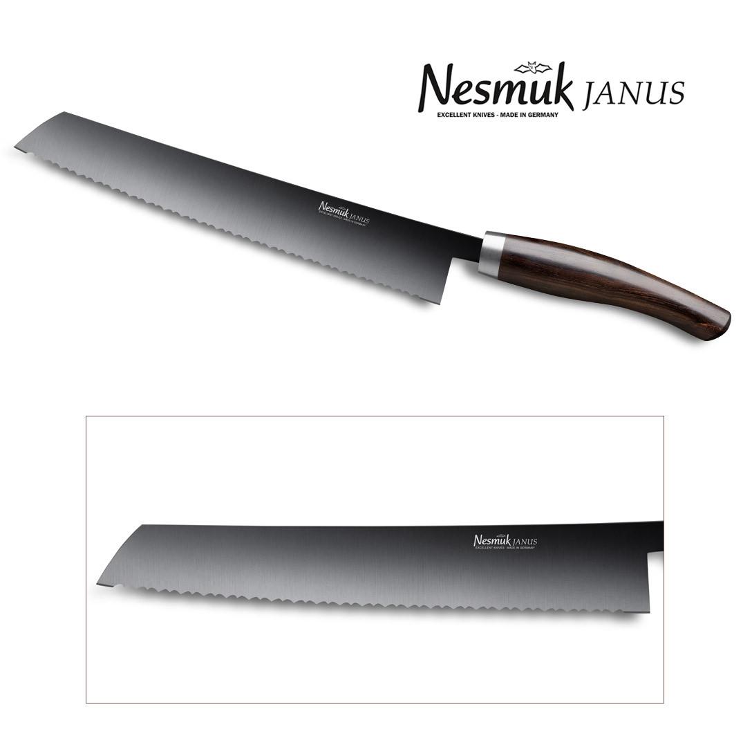 NESMUK JANUS Brotmesser 270 Grenadill Detail