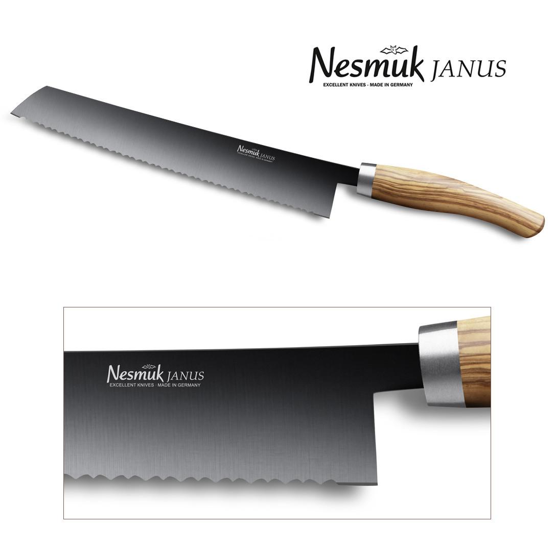 NESMUK JANUS Brotmesser 270 Olive - Detailansicht