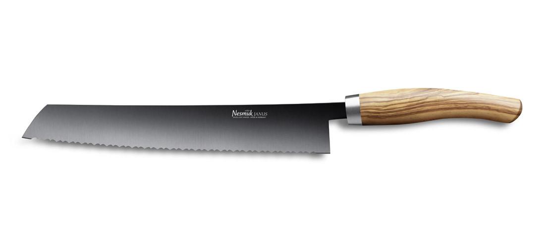 NESMUK JANUS Brotmesser 270 Olivenholzgriff