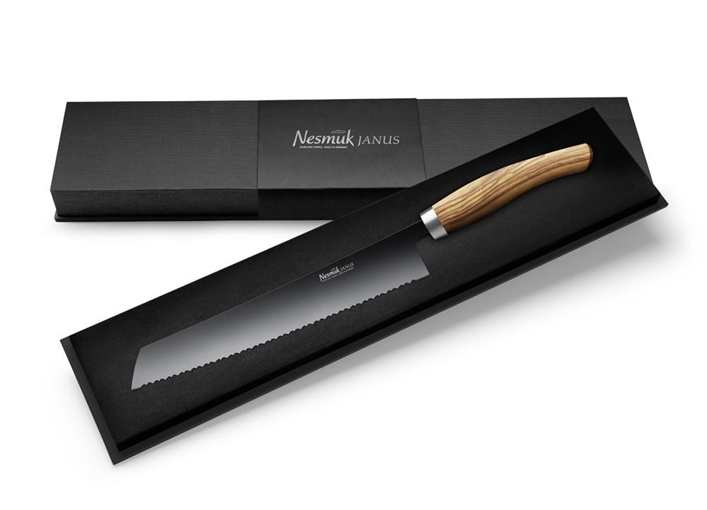 NESMUK JANUS Brotmesser 270 Olive - Schatulle