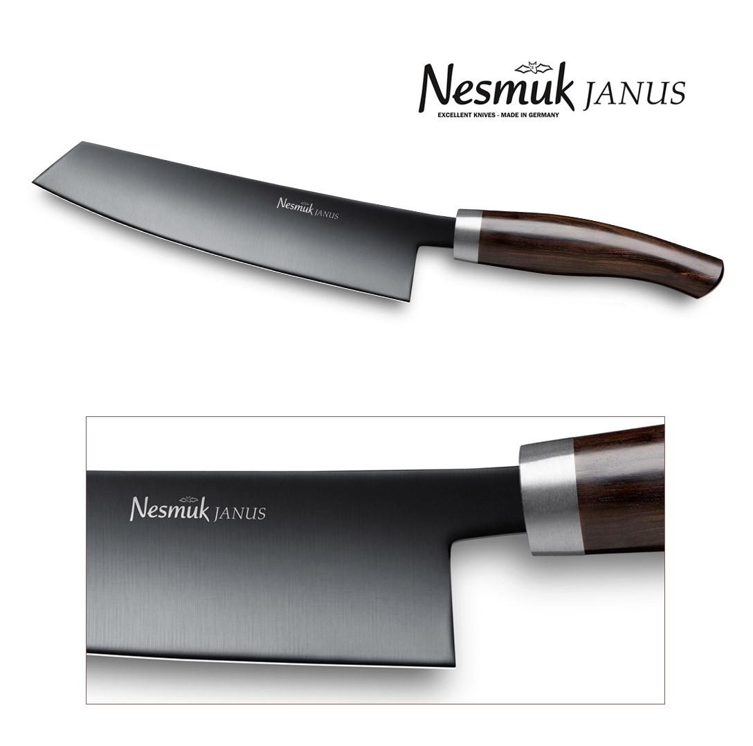 JANUS Kochmesser Nesmuk Klinge 180 mm, Griff: Grenadill,  J5G1802013
