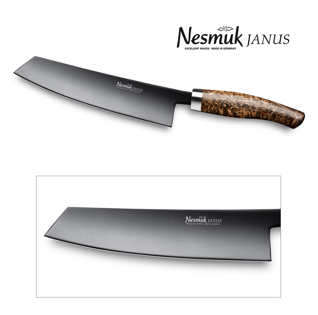 NESMUK JANUS Kochmesser 180 Karelische Maserbirke, J5BM1802014