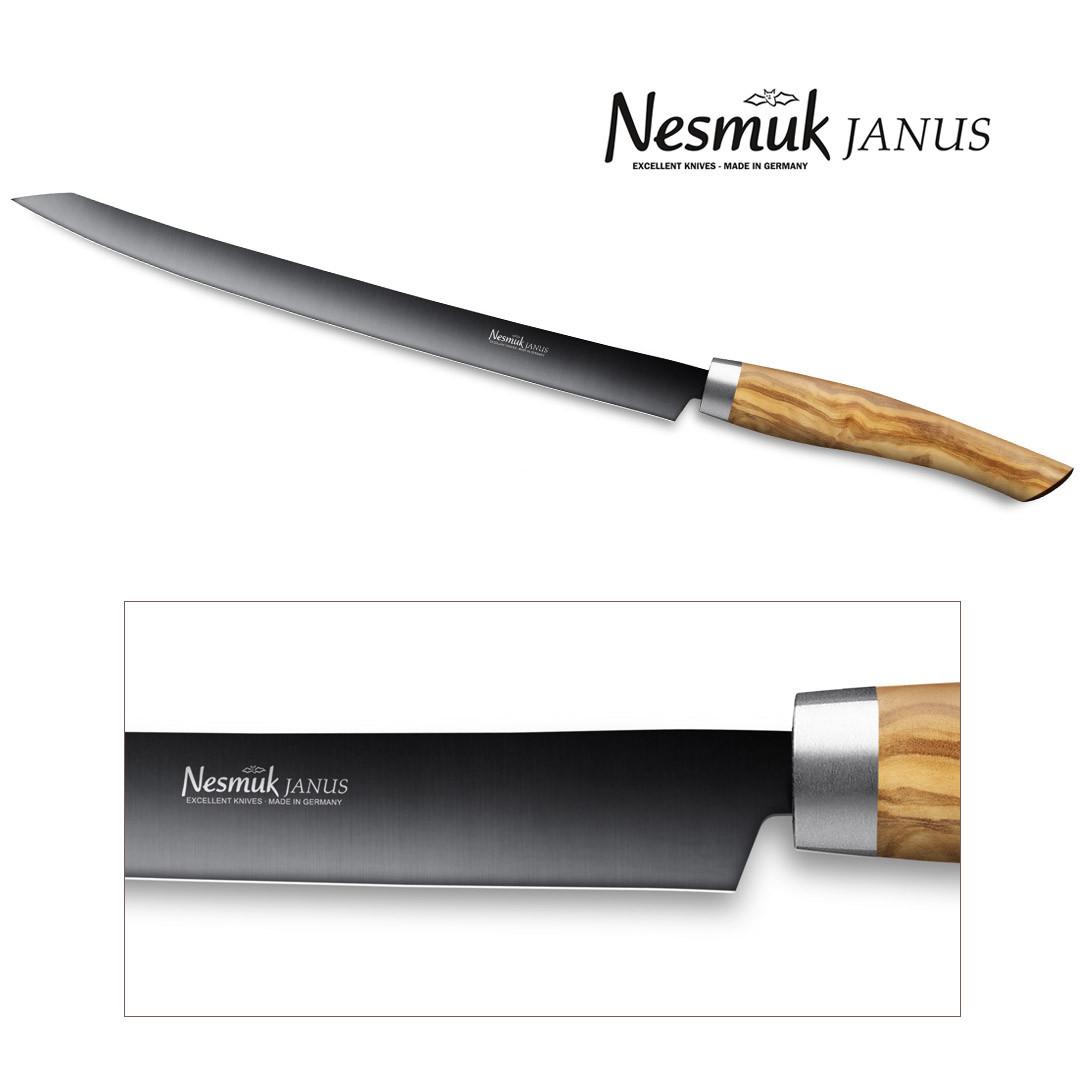 NESMUK Janus Slicer 260 Olivenholz - Detailansicht