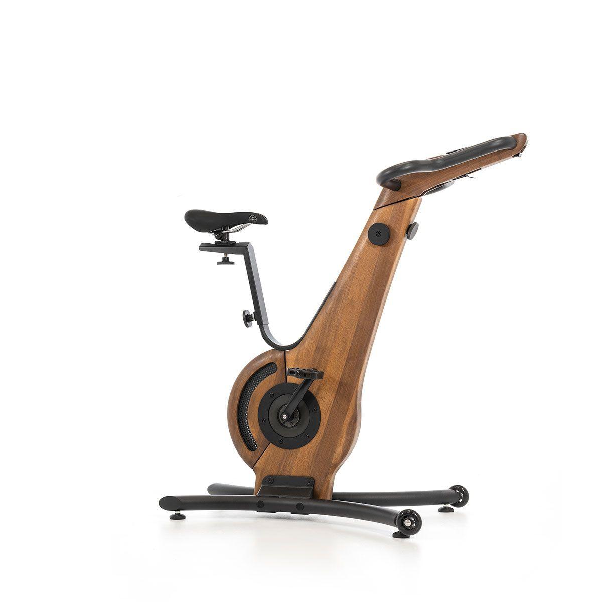 NOHrD Bike Nussbaum - Fahrradergometer aus massivem Wallnussholz