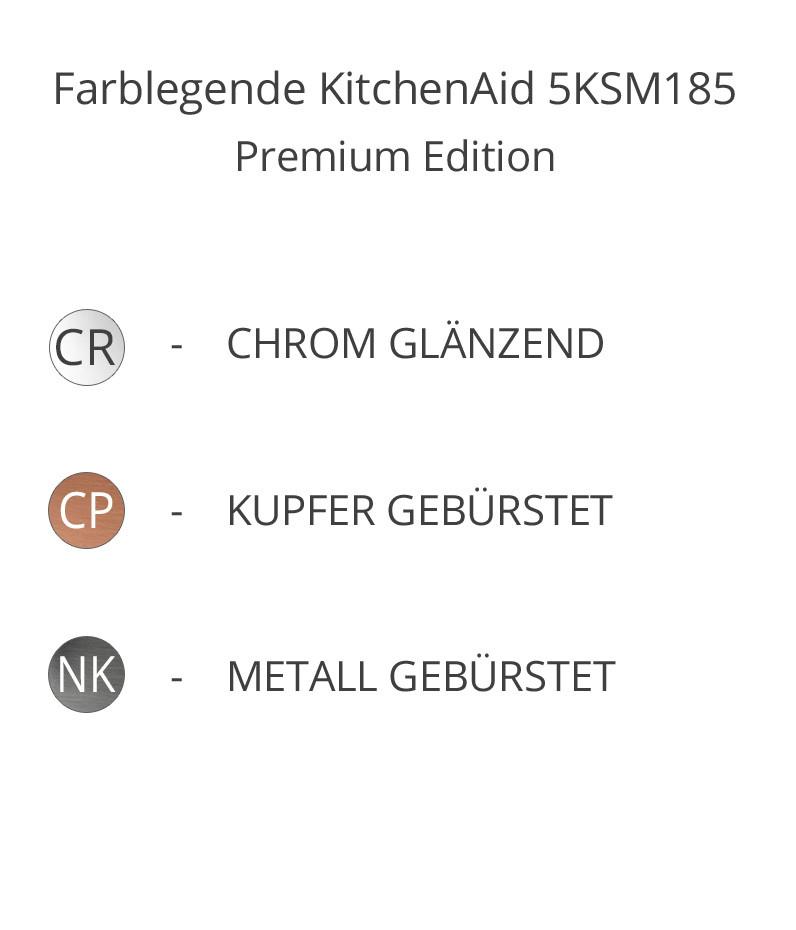 KitchenAid Küchenmaschine 5KSM185 Premium CR, CP, NK