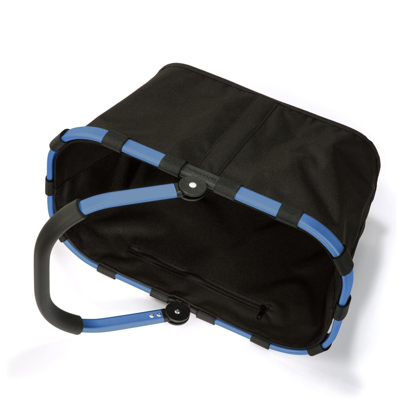 reisenthel carrybag Einkaufskorb 22l - Schwarz mit blauem Rahmen