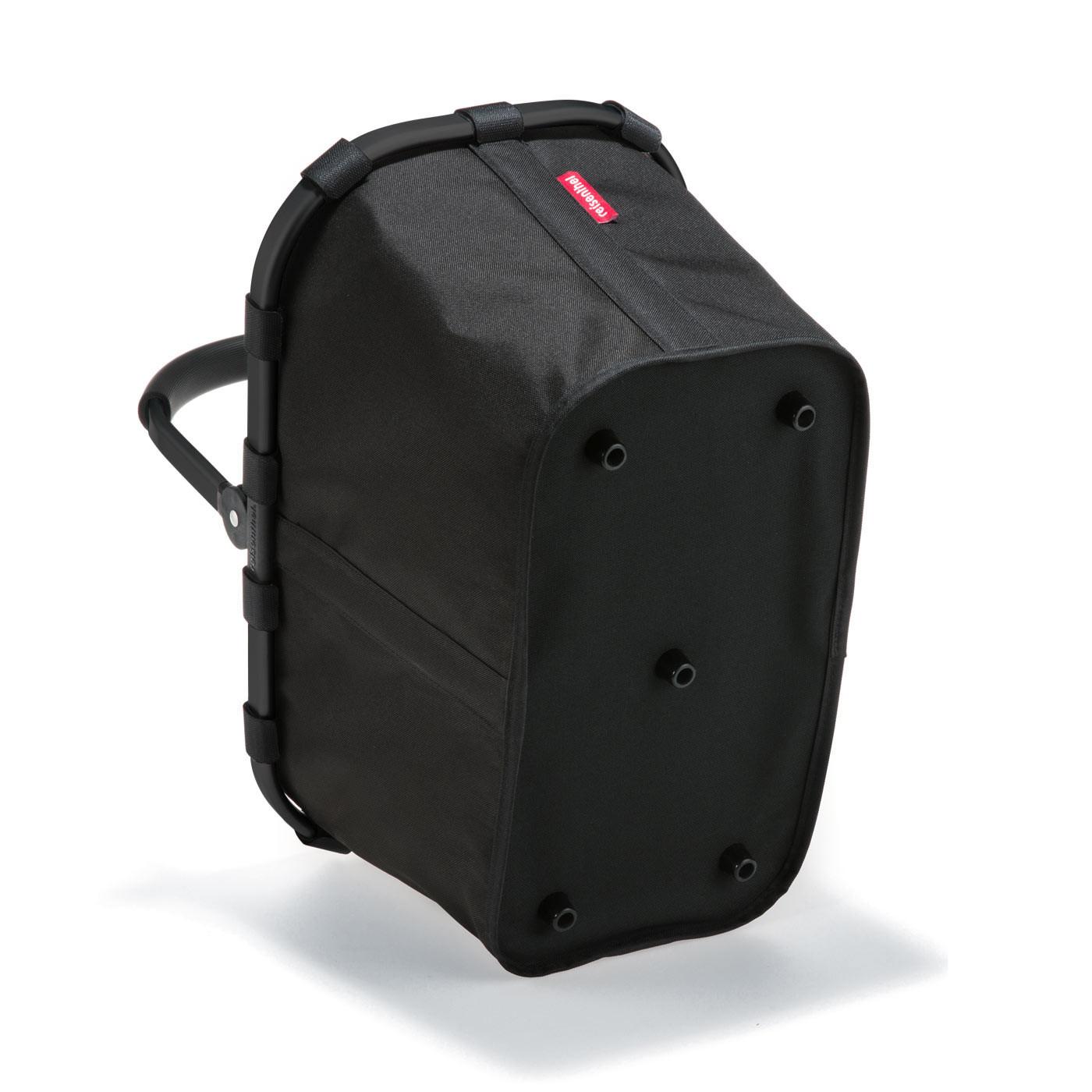 reisenthel carrybag Einkaufskorb 22l - schwarz mit rotem Rahmen