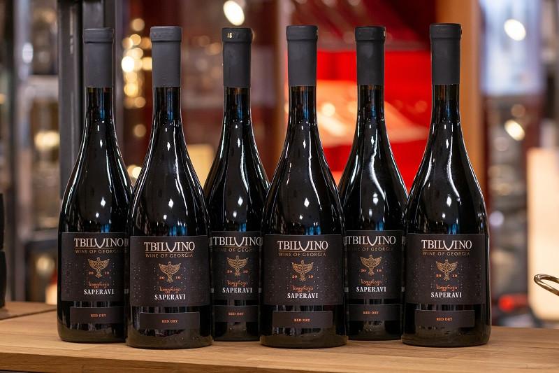 Tbilvino Saperavi Georgien trockener Rotwein 0,75 Liter 6er-Set 2019