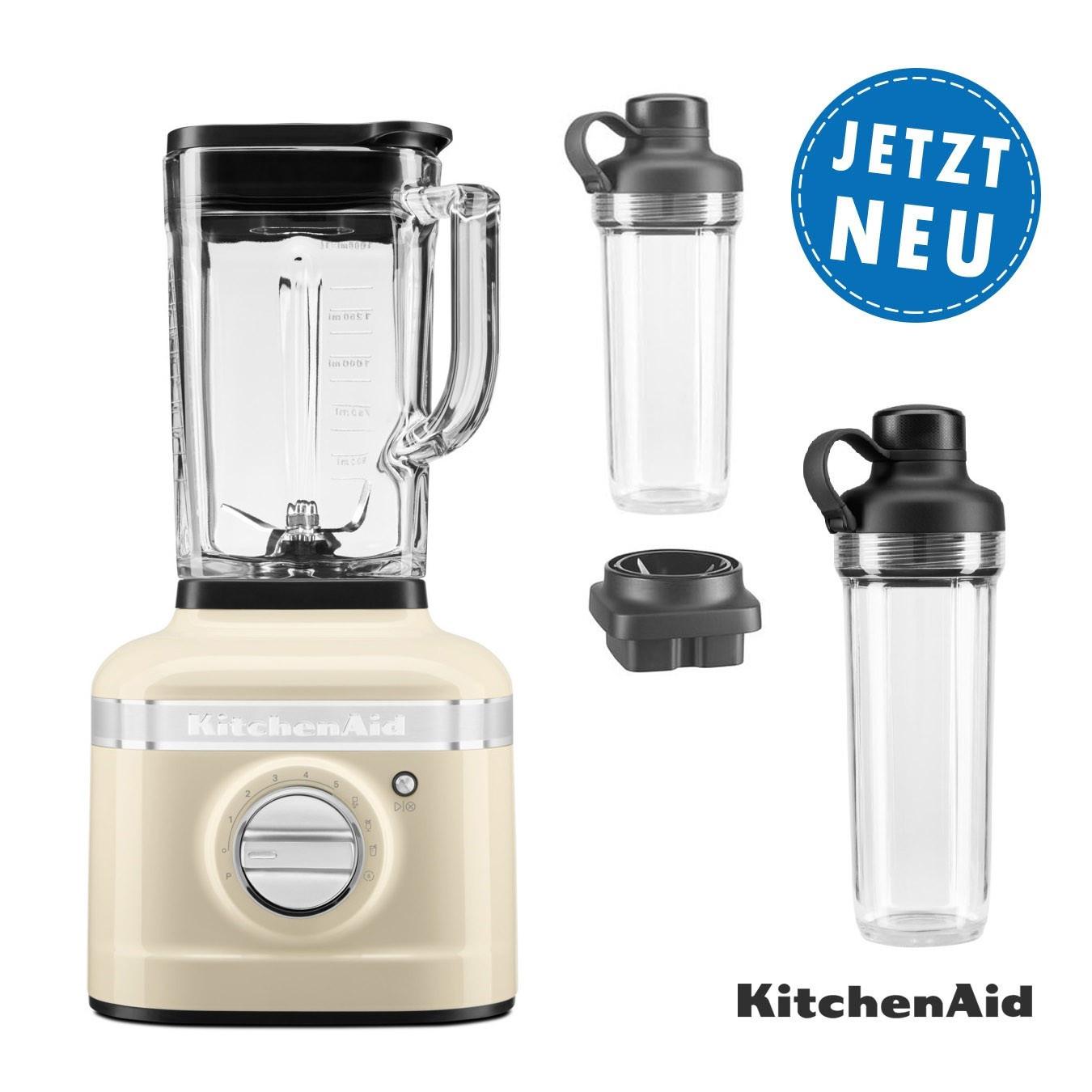 KitchenAid ARTISAN K400 Standmixer Set 5KSB4026EAC mit 2xTo Go Behälter und Klingen