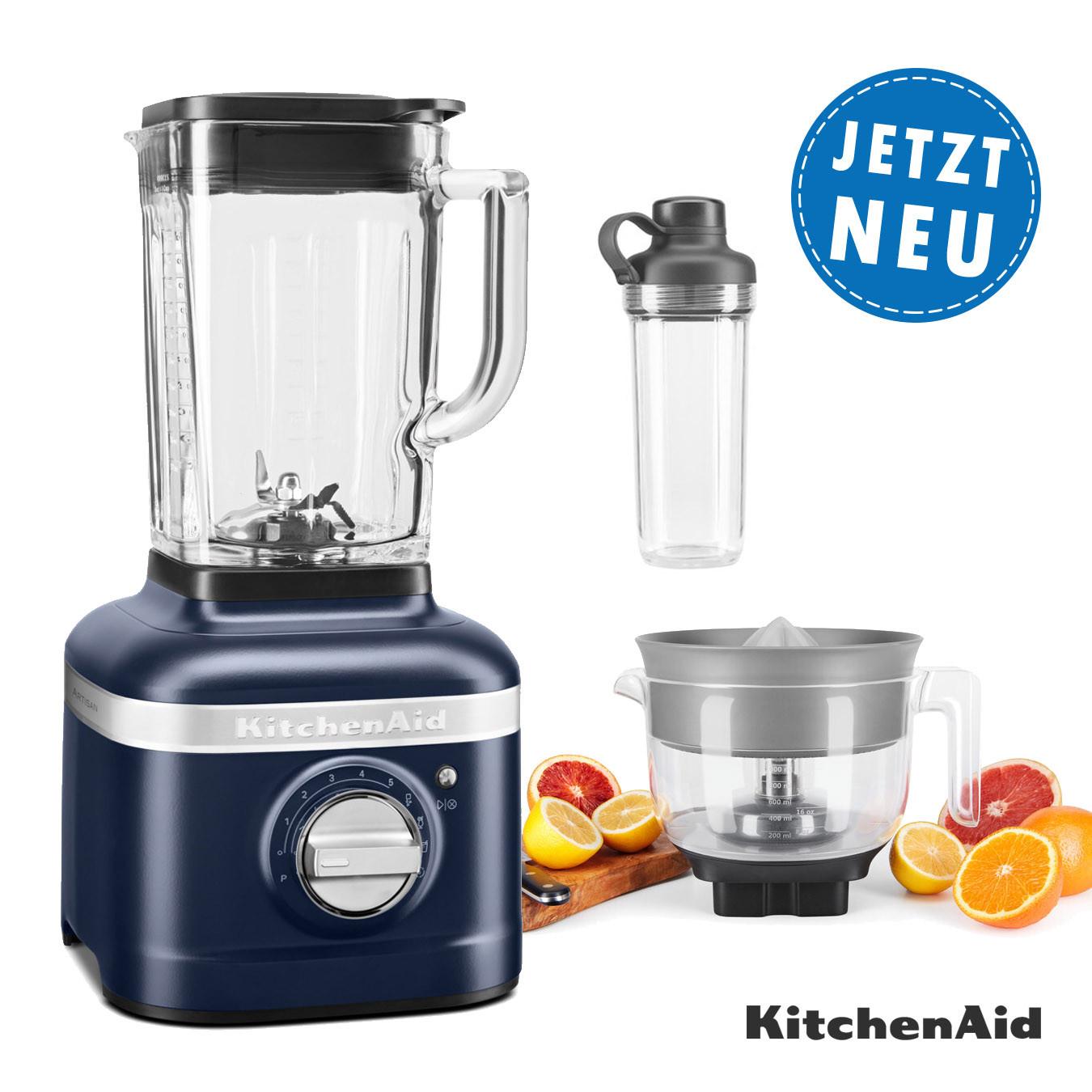 KitchenAid ARTISAN K400 Standmixer 5KSB4026EIB mit Zitruspresse und 1x To-Go