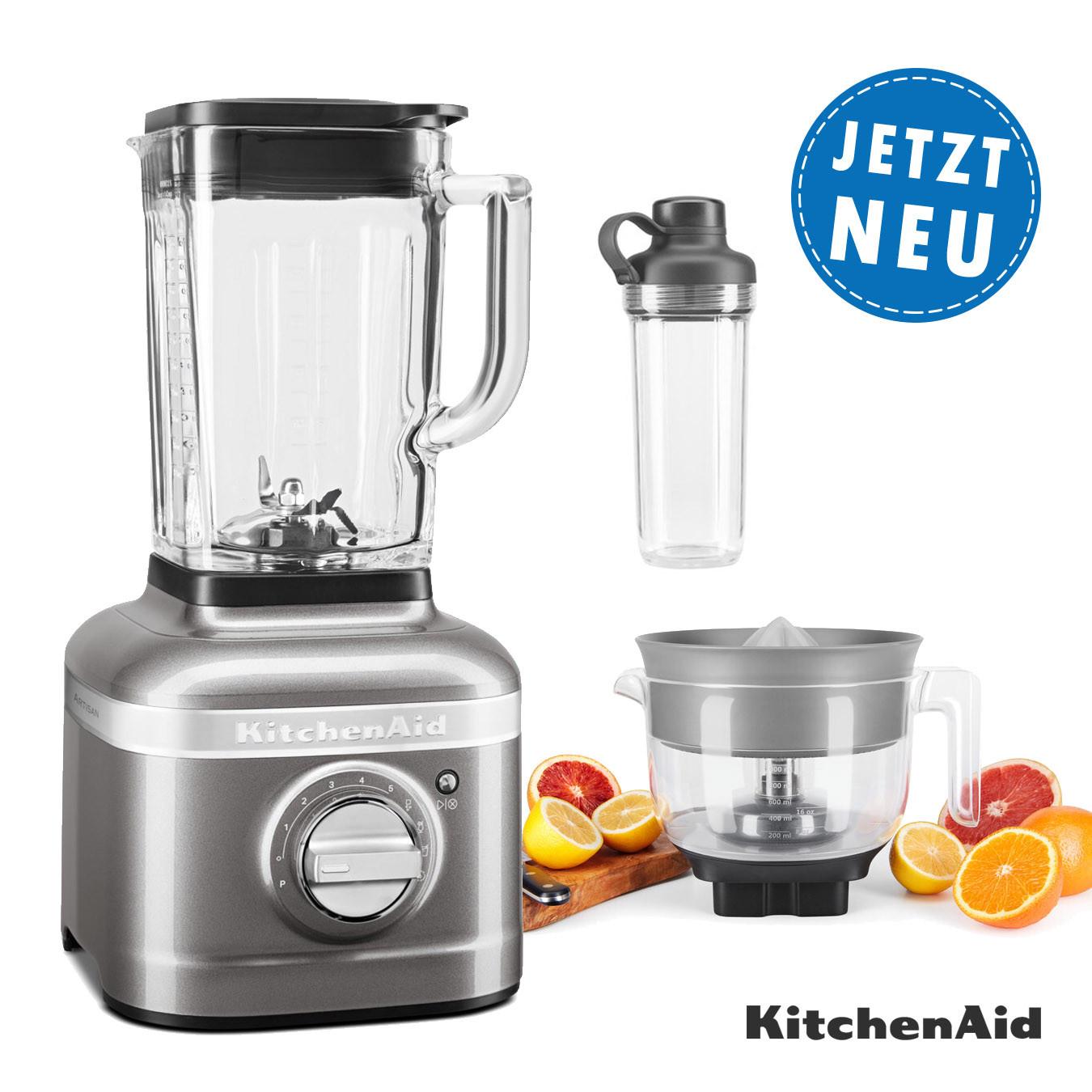 KitchenAid ARTISAN K400 Standmixer 5KSB4026EMS mit Zitruspresse 6 1x To-Go