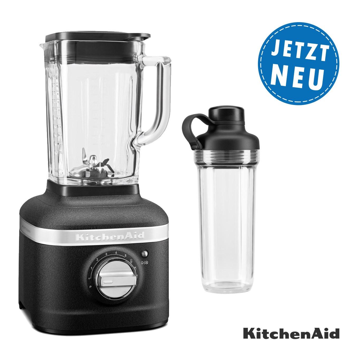 KitchenAid ARTISAN K400 Standmixer 5KSB4043EBK Gusseisen Schwarz Set3