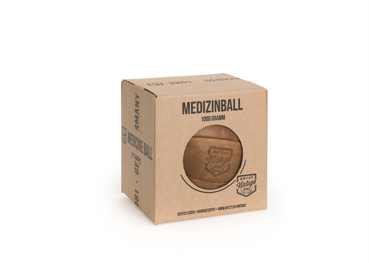 Artzt Vintage Series Medizinball 1000g, LA-4160, 4260071636843