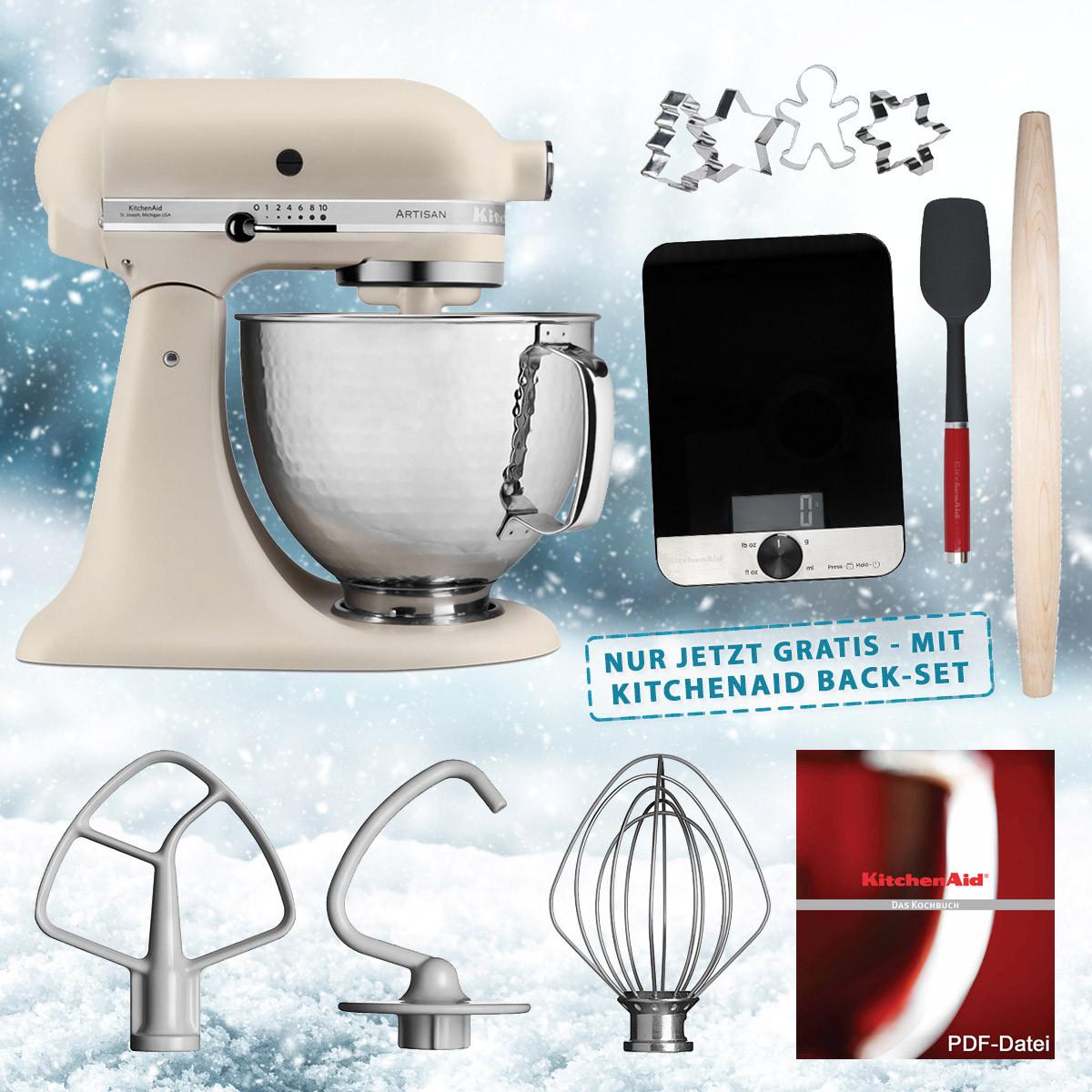 KitchenAid Artisan Küchenmaschine Leinen matt 5KSM156HMEFL 4,8-L