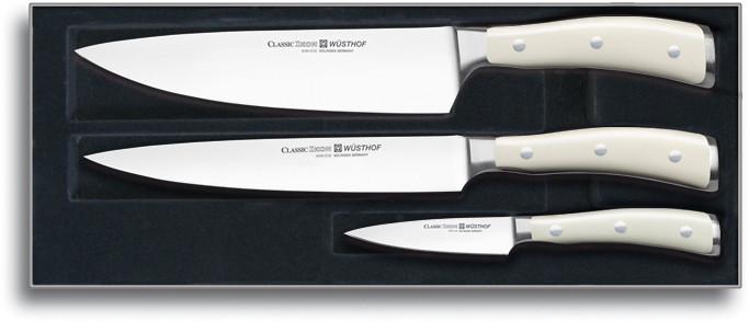 3-teiliges Wüsthof Messerset Classic Ikon mit Geschenkbox