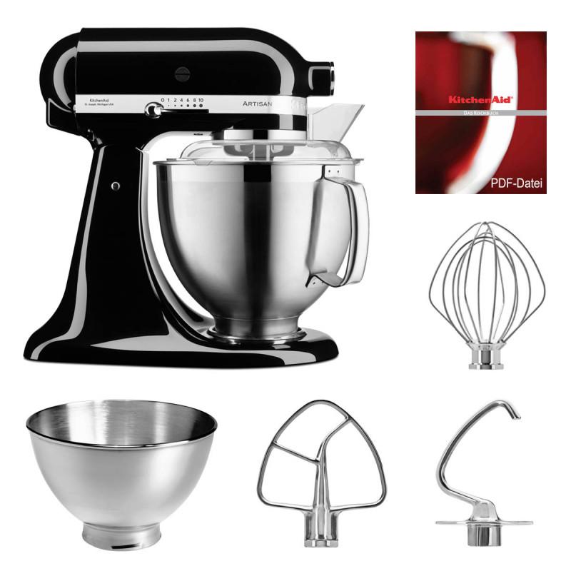 KitchenAid Küchenmaschine 5KSM185PS onyx schwarz