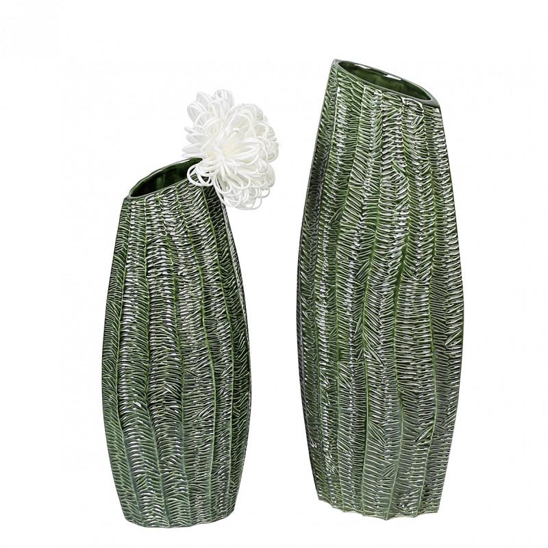 Casablanca Vase Organico dunkelgrün/glasiert, H. 60 cm
