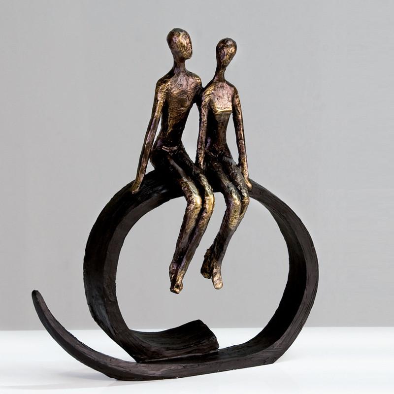 Casablanca Skulptur Figur Close bronze Höhe 35 cm
