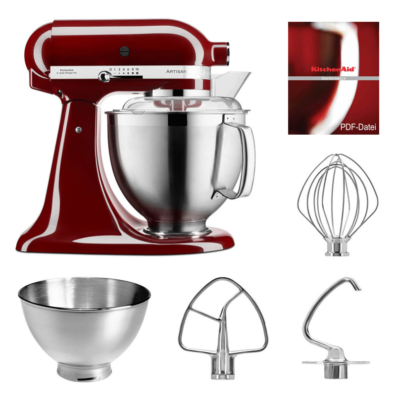 KitchenAid Küchenmaschine 5KSM185PS crimson red