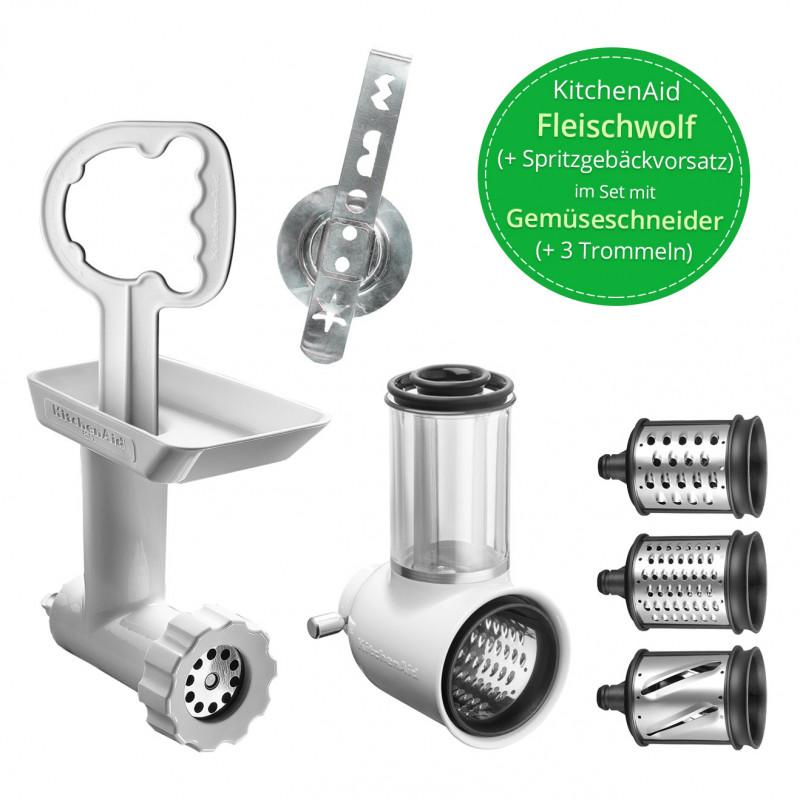 KitchenAid Fleischwolf NEU mit Spritzgebäckvorsatz + Gemüseschneider NEU