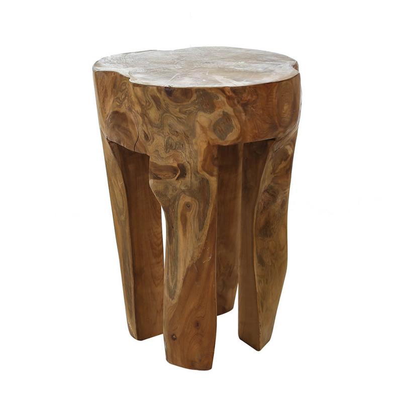 Casablanca Teak Hocker aus Holz Höhe 40cm