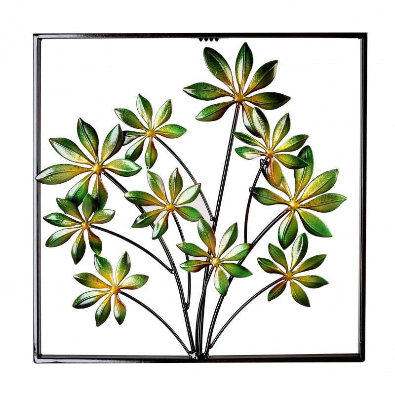 Casablanca Wanddeko Plant Metall, grün metallic 40 x 40 cm