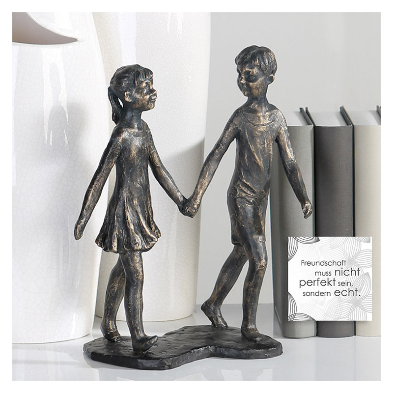 "Casablanca Skulptur ""Hand in Hand"", bronze finish"