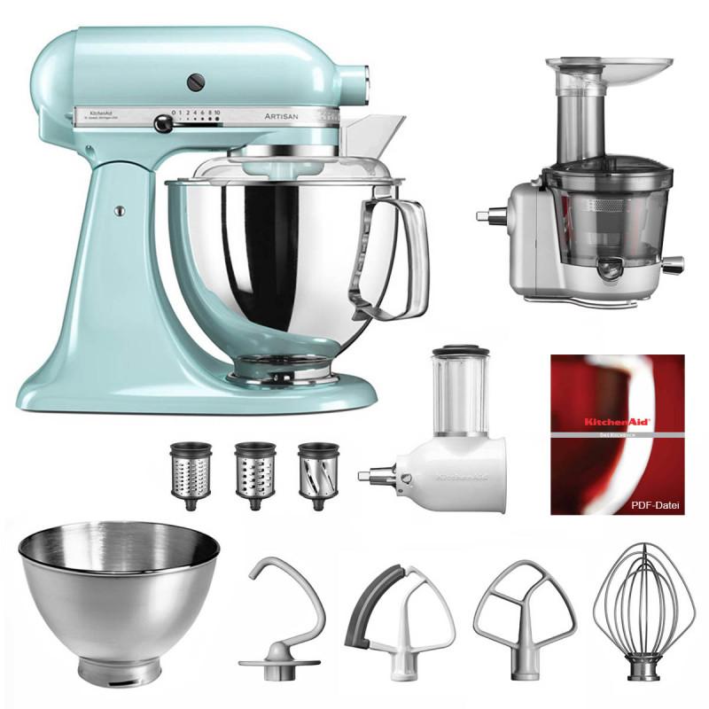 KitchenAid Küchenmaschine 175PS Entsafter Vital-Set eisblau