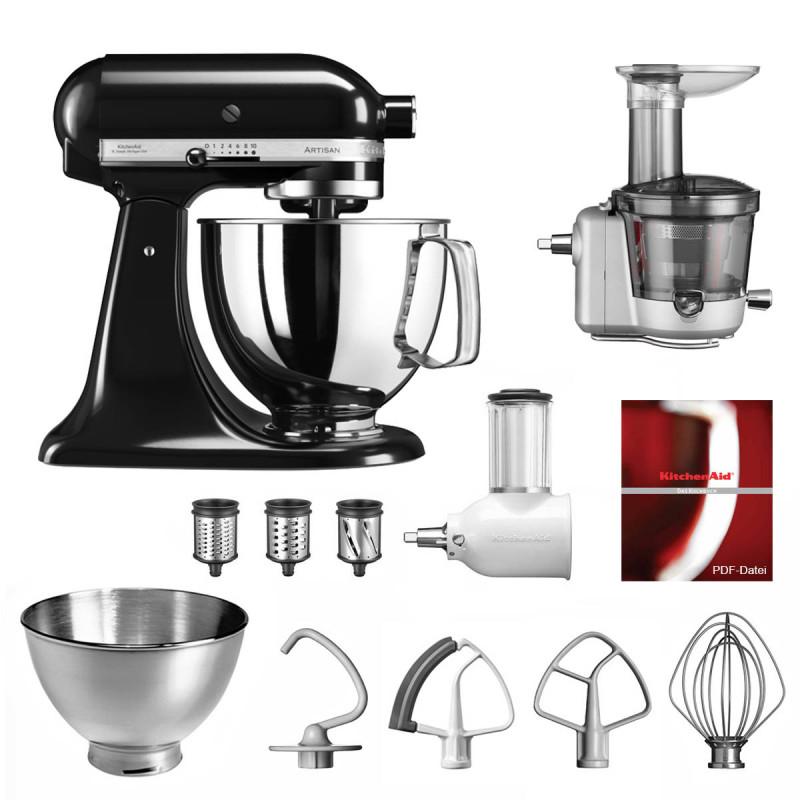 KitchenAid Küchenmaschine 5KSM175PS Entsafter Vital-Set onyx