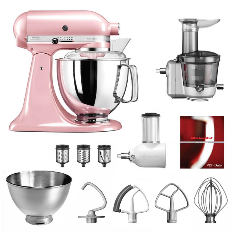KitchenAid Küchenmaschine 175PS Entsafter Vital-Set seidenpink/rosa