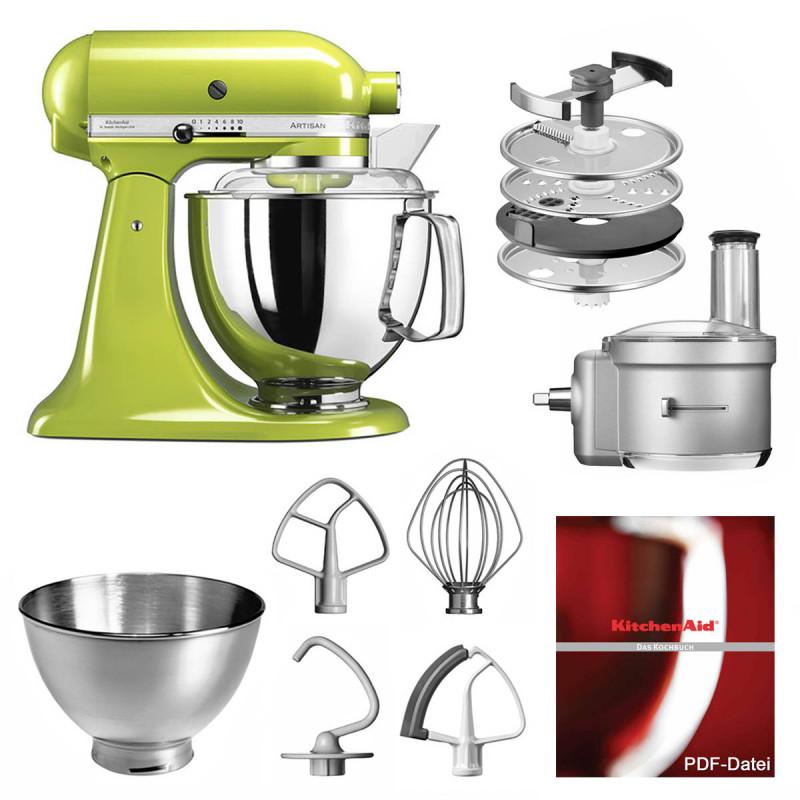 KitchenAid Küchenmaschine 175PS Foodprocessor Set apfelgrün