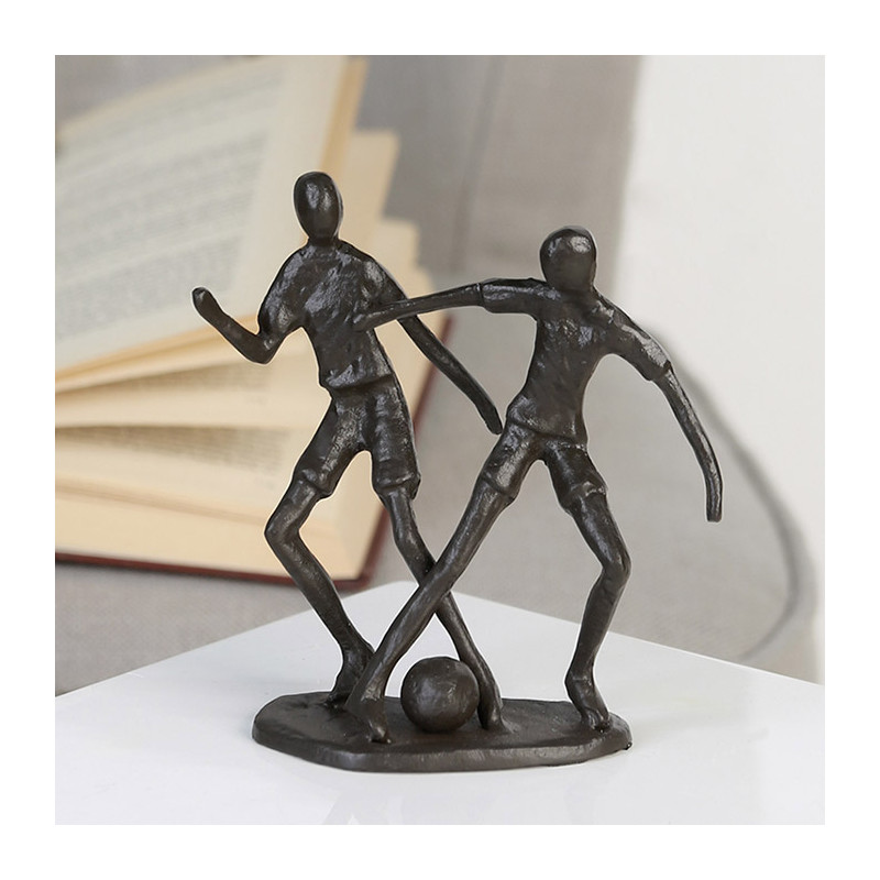 """Casablanca Skulptur """"Fußballer"""" - Sportler im Zweikampf"""