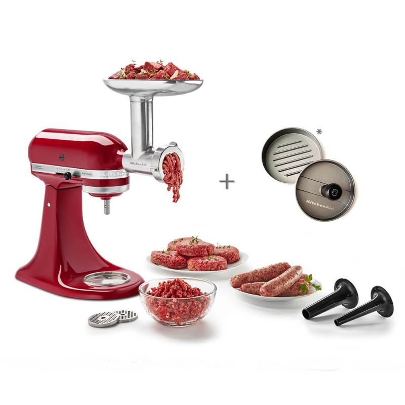 KitchenAid Fleischwolf Ganzmetall inkl. Burgerpresse*