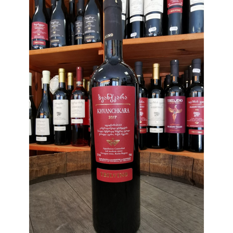 Tbilvino Khvanchkara, lieblicher Rotwein aus Georgien 0,75l