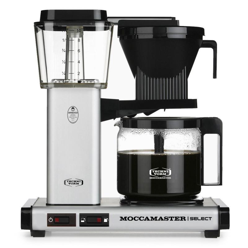 Moccamaster Kaffeemaschine KBG Select Mattes Silber