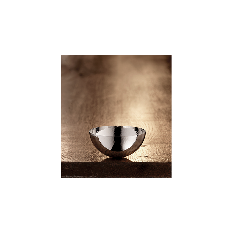Martelé Schale 10cm, glatter Rand