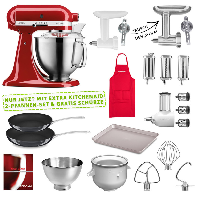 KitchenAid 5KSM185PSEER Set #wir bleiben zuhause empire rot