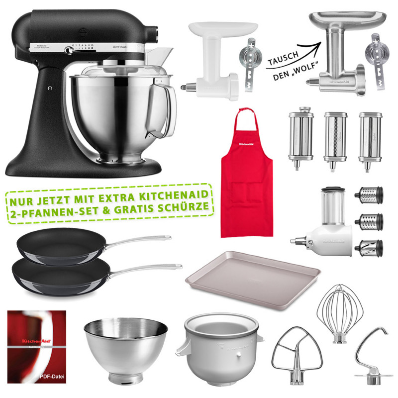 KitchenAid 5KSM185PSEBK Set #wir bleiben zuhause gusseisen schwarz