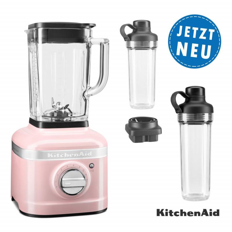 KitchenAid ARTISAN K400 Standmixer 5KSB4026 seidenpink mit 2xTo-Go-Behälter und Klingen