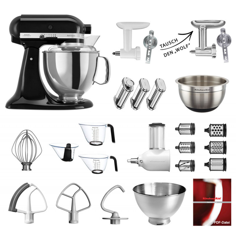 Onyx Black KitchenAid Artisan Mega-Paket