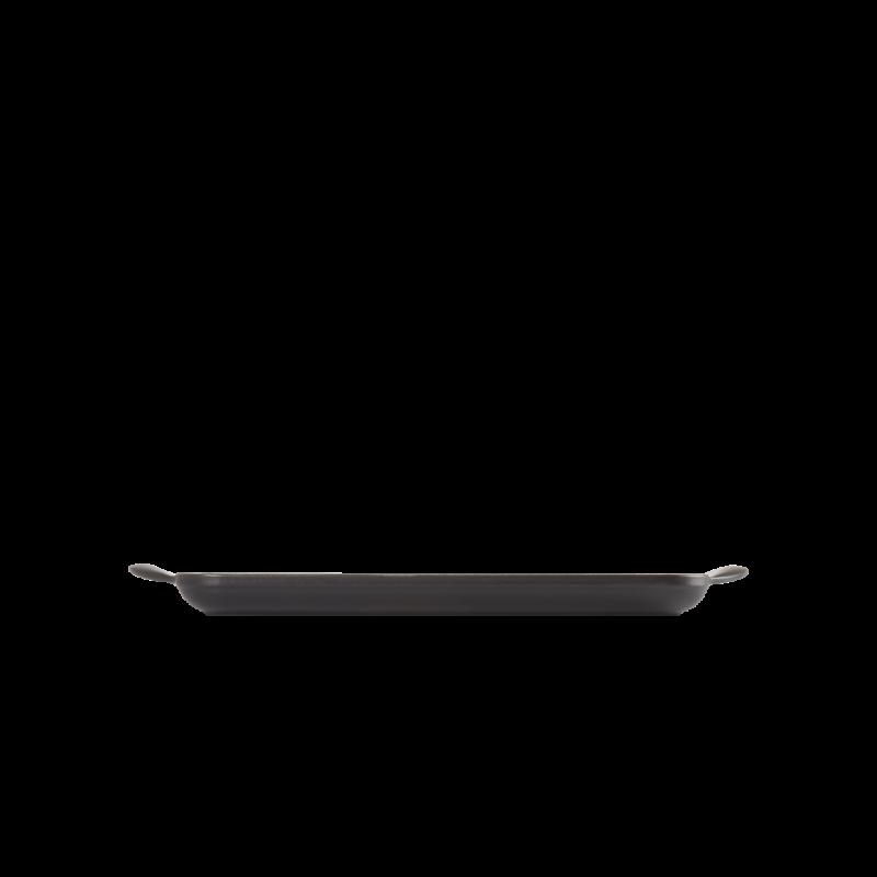 Le Creuset Grillplatte rechteckig 32x22 cm Schwarz