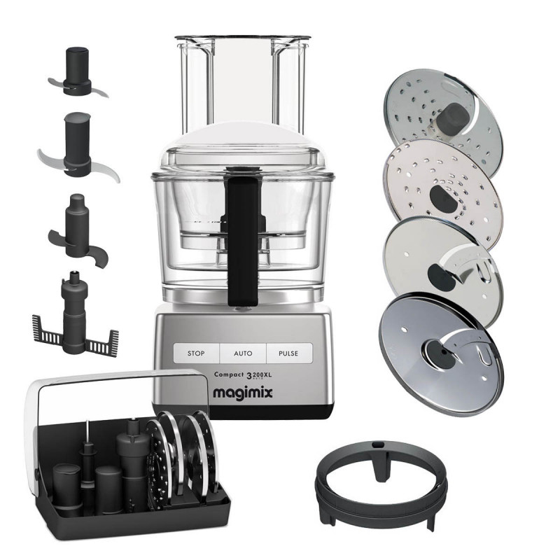 Magimix Compact 3200 XL chrom matt Küchenmaschine