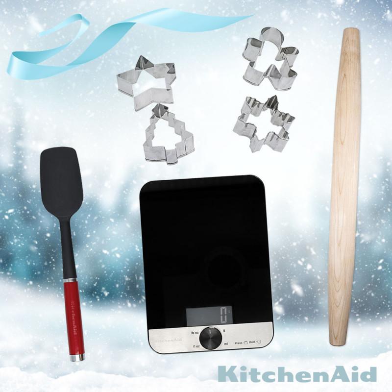 KitchenAid Backset KX403BX inkl. Glaswaage, Ausstechformen